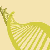 Illustratie van DNA in vlak ontwerp Royalty-vrije Stock Afbeelding