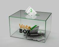 Illustratie van doos voor stemmen op grijze achtergrond royalty-vrije illustratie