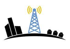 Illustratie van draadloos signaal van Internet in Royalty-vrije Stock Foto