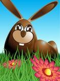 Het konijn en de eieren van Pasen Stock Fotografie