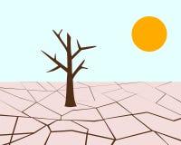 Illustratie van droogte en hitte royalty-vrije illustratie
