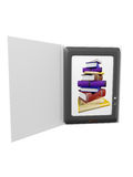 Illustratie van ebook Stock Foto