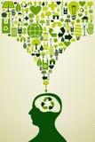 Illustratie van Eco de vriendschappelijke pictogrammen Royalty-vrije Stock Afbeeldingen