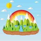Illustratie van ecologieconcept groene energie Vector Illustratie