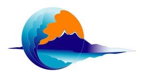 Illustratie van een abstract symbool Stock Foto