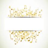 Gouden muzieknota's royalty-vrije illustratie