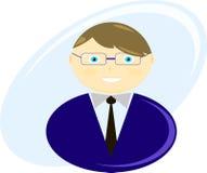 Illustratie van een bedrijfsmens vector illustratie