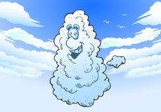 Gelukkige wolk stock illustratie