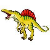 Illustratie van een beeldverhaaldinosaurus Stock Foto