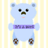 Illustratie van een beer voor babydouche Stock Afbeelding