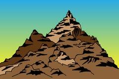 Illustratie van een berg en pieken Royalty-vrije Stock Fotografie