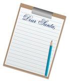 Illustratie van een brief aan de Kerstman Stock Fotografie
