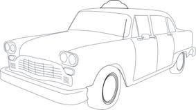 Illustratie van een Cabine van de Taxi Stock Foto's