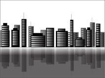 Illustratie van een cityscape scène Vector Illustratie