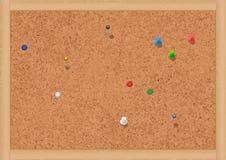 Illustratie van een cork prikbord. Royalty-vrije Stock Foto
