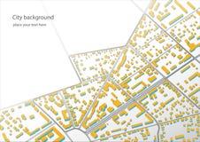 Illustratie van een denkbeeldig districtsplan stock fotografie