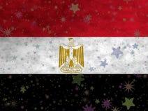 Illustratie van een Egyptische Vlag royalty-vrije illustratie