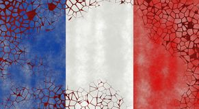 Illustratie van een Franse Vlag royalty-vrije illustratie