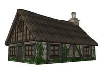 Illustratie van een geïsoleerdw plattelandshuisje royalty-vrije illustratie