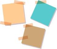 Illustratie van een gekleurde reeks kleverige nota's Royalty-vrije Stock Afbeeldingen