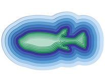 Illustratie van een gelaagde vis in de oceaan Royalty-vrije Stock Fotografie