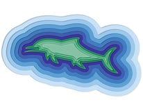 Illustratie van een gelaagde vis in de oceaan Royalty-vrije Stock Foto