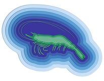 Illustratie van een gelaagde vis in de oceaan Royalty-vrije Stock Foto's