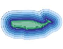 Illustratie van een gelaagde vis in de oceaan Royalty-vrije Stock Afbeelding