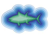 Illustratie van een gelaagde vis in het overzees Royalty-vrije Stock Fotografie