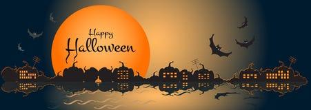 Illustratie van een gelukkige Halloween-banner Vector illustratie vector illustratie