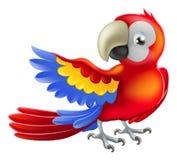 De rode illustratie van de arapapegaai Stock Foto
