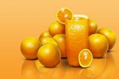 Illustratie van een glas jus d'orange royalty-vrije stock foto