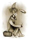 Illustratie van een grappige clown Royalty-vrije Stock Foto's