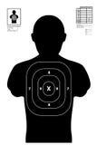 Illustratie van een het schieten doel/het schieten van waaier Royalty-vrije Stock Afbeeldingen