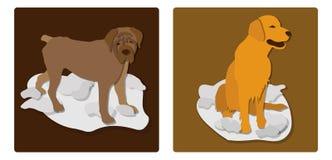 Illustratie van een hondensymbool van 2018 stock afbeeldingen