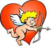 Illustratie van een Jongen van de Engel Amor Stock Fotografie