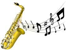Illustratie van een klassieke saxofoon Royalty-vrije Stock Foto's