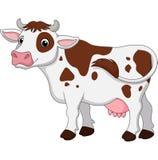 Illustratie van een koe op een witte achtergrond royalty-vrije illustratie