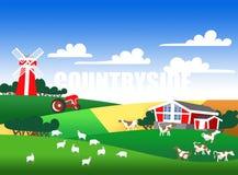 Illustratie van een landbouwgrond Royalty-vrije Stock Fotografie