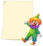 Een lege ruimte met een clown Stock Fotografie