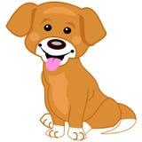 Illustratie van een leuke bruine hond Stock Fotografie