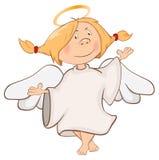 Illustratie van een Leuke Engel Het karakter van het beeldverhaal Stock Foto