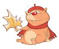 Illustratie van een leuke kat Het karakter van het beeldverhaal Royalty-vrije Stock Foto's