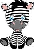 Illustratie van een leuke zebra van de beeldverhaalbaby vector illustratie