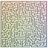3D labyrint Stock Afbeelding