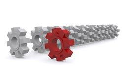 De wielen van het radertje Stock Afbeelding