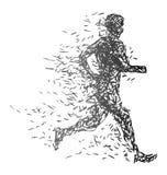 Illustratie van een lopende mens Royalty-vrije Stock Afbeeldingen