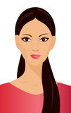 Illustratie van een meisje Royalty-vrije Stock Afbeeldingen