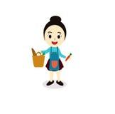 Illustratie van een Meisje die een Schort dragen Royalty-vrije Stock Foto