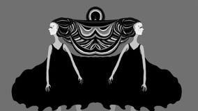 Illustratie van een meisje met dramatisch haar royalty-vrije illustratie